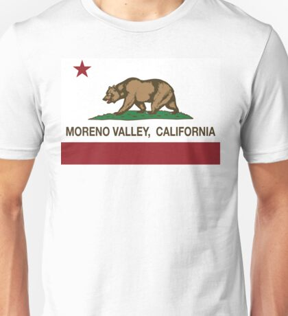 Moreno Valley California Republic Flag Unisex T-Shirt