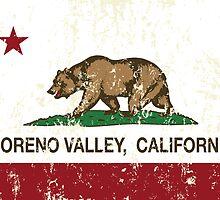 Moreno Valley California Republic Flag Distressed by NorCal
