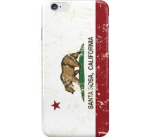 Santa Rosa California Republic Flag Distressed iPhone Case/Skin
