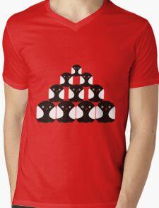 Penguin Pyrimid Mens V-Neck T-Shirt