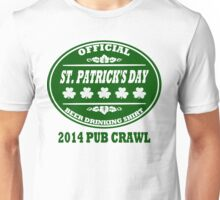 St Patrick's Day Official Beer Drinking T Shirt Unisex T-Shirt