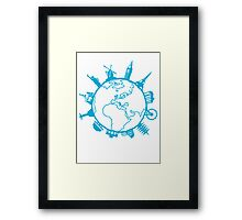 Cities of the World Framed Print