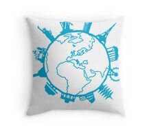 Cities of the World Throw Pillow