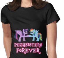 Pegasisters Forever (No Heart) 3 Womens Fitted T-Shirt