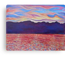 Sunset Over Vancouver Island Canvas Print
