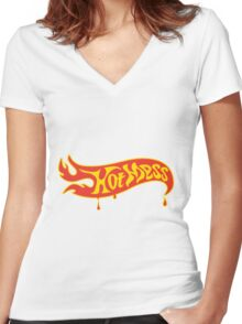 Hot Mess Women's Fitted V-Neck T-Shirt