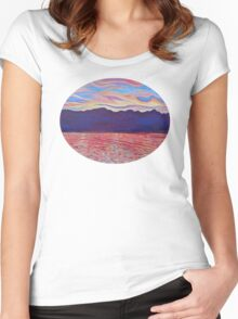 Sunset Over Vancouver Island Women's Fitted Scoop T-Shirt