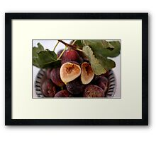 Figs In A Bowl Framed Print
