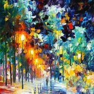 ROMANTIC WINTER by Leonid  Afremov