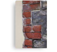 Stone, brick, render Canvas Print