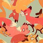 Seamless Fox Pattern by shreddednettles