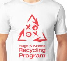 Hugs and Kisses Recycling Unisex T-Shirt