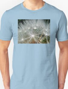Waterdrops on a white dandelion T-Shirt