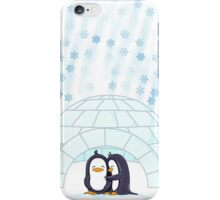 Penguins In Igloo While Snowing Art iPhone Case/Skin