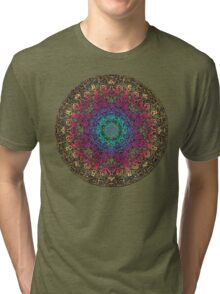 Bliss Energy Yoga Chakra Mandala Tri-blend T-Shirt