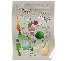 Winter Vegetables Poster