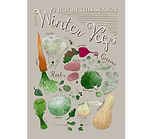 Winter Vegetables Photographic Print