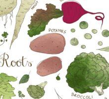 Winter Vegetables Sticker