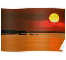 Big Sunset Long Island, New York Poster