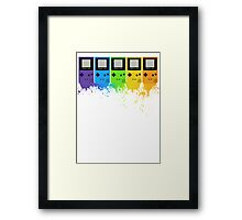 Gameboy Rainbow Tee Framed Print