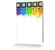 Gameboy Rainbow Tee Greeting Card