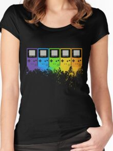 Gameboy Rainbow Tee Women's Fitted Scoop T-Shirt