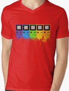 Gameboy Rainbow Tee Mens V-Neck T-Shirt