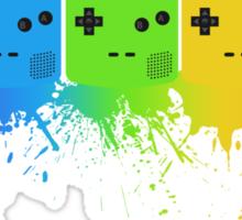 Gameboy Rainbow Tee Sticker