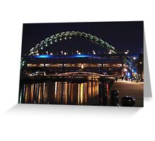 Newcastle Quayside After Dark Greeting Card