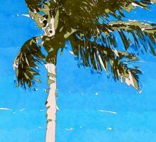 Palm Tree In Wind Sticker