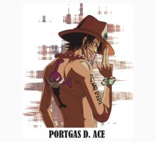ONE PIECE - Portgas D. Ace T-SHIRT by neznar
