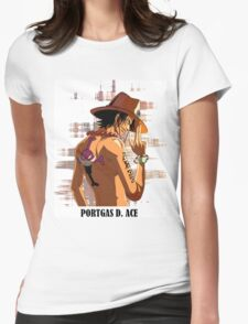 ONE PIECE - Portgas D. Ace T-SHIRT Womens Fitted T-Shirt