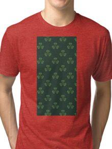Irish Shamrocks All Over Tri-blend T-Shirt