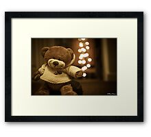 Brown bear with a brown bear's nose Framed Print