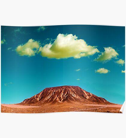 Desert mountain landscape Poster