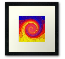 Mosaic Swirl Framed Print