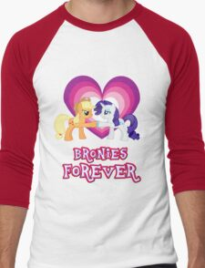 Bronies Forever 9 Men's Baseball ¾ T-Shirt