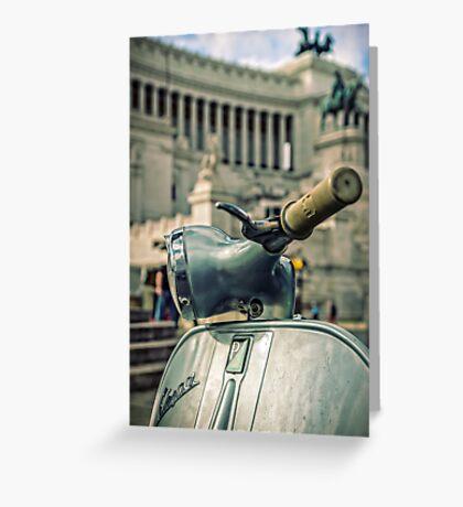 Vespa at the Il Vittoriano monument - Rome, Italy  Greeting Card