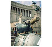 Vespa at the Il Vittoriano monument - Rome, Italy  Poster