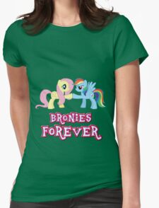 Bronies Forever (No Heart) Womens Fitted T-Shirt