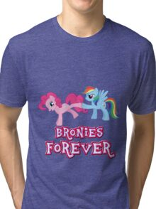 Bronies Forever (No Heart) 2 Tri-blend T-Shirt