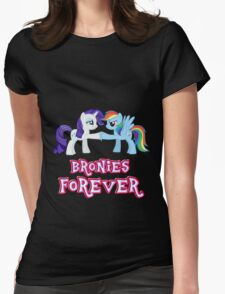 Bronies Forever (No Heart) 4 Womens Fitted T-Shirt