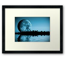 Full moon landscape Framed Print