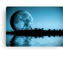 Full moon landscape Canvas Print