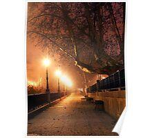 Night cityscape Poster