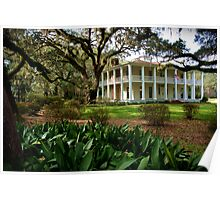 Mansion Antebellum Style Poster