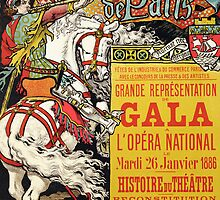 Reproduction of a poster advertising the Fetes de Paris by Bridgeman Art Library