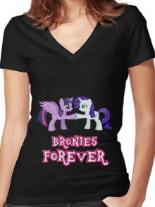 Bronies Forever (No Heart) 12 Women's Fitted V-Neck T-Shirt