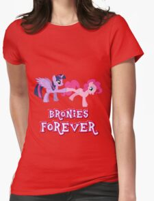 Bronies Forever (No Heart) 14 Womens Fitted T-Shirt