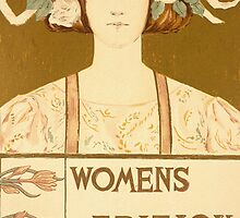 Reproduction of a poster advertising the Women's edition Buffalo Courier by Bridgeman Art Library